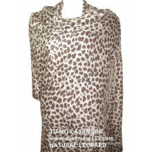 Cashmere Natural Leopard Shawl