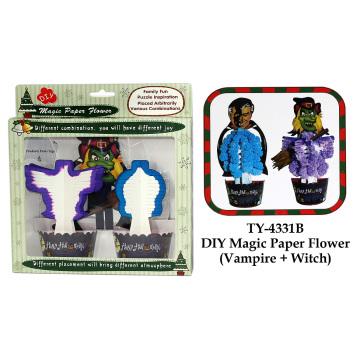 Halloween DIY Magic Paper Flower Toy