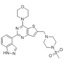 Thieno [3,2-d] pyrimidin, 2- (1H-indazol-4-yl) -6 - [[4- (methylsulfonyl) -1-piperazinyl] methyl] -4- (4-morpholinyl) - CAS 957054- 30-7
