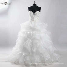 RSW910 Últimas Ruffled Organza Bottom Bridal Wedding Dresses Gowns Pictures
