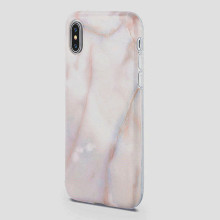 Red granite rock phone case for iphone X cover