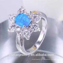 Bague opale de feu synthétique bijoux en argent de l'Inde derniers produits 2018 OEM prix de gros