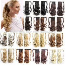 Wholesale price magic tape ponytail hair for reseller