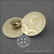 Placa de plata redonda de la escuela, Pin de solapa de la universidad (GZHY-LP-035)