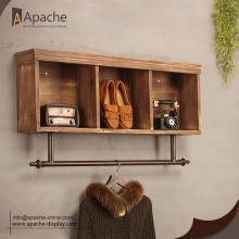 Professional Design for Shoes Display Rack Wooden Cabinet Metal Wall-Mounted Clothing Rack supply to Saint Lucia Exporter