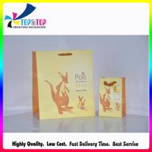 Amarelo saco de papel flexível do presente / saco de compras do projeto dos desenhos animados