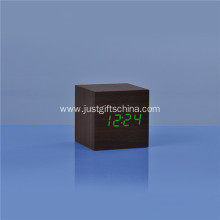 Promotional LED Wooden Square Desk Clock
