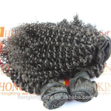 mayorista de pelo brasileño diferentes tipos de extensiones de cabello rizado