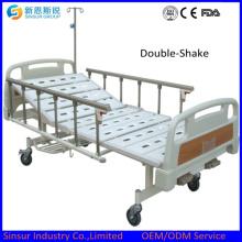 Manuelle 2 Kurbel Aluminiumlegierung Siderical Medical Bed / Betten