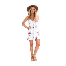 Summer Women Spaghetti Strap Beach One Piece Sexy Short Dress Frocks Adult Lady Girls Party Dress