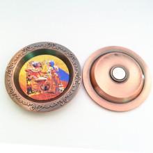 Lembrança Promoção Bandeja de cinza de metal personalizado com ímã (F5050)