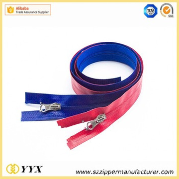 Öppna End Shiny Waterproof Coil Zipper