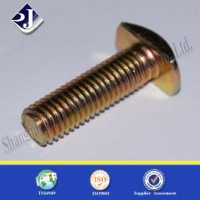 ASME B 18.5 35 carbon steel grade 4.8 t handle bolt yellow zinc plated