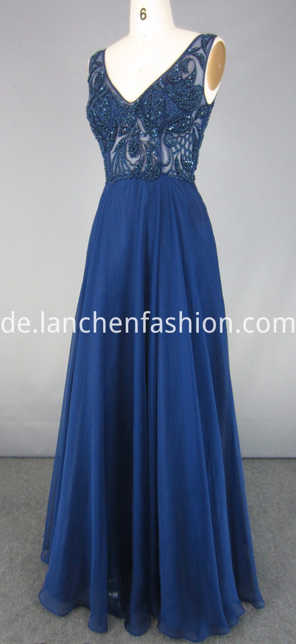 Evening Dress Navy Lace