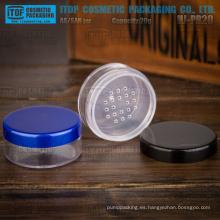 HJ-PR20 g 20 sola capa hermosa y clásica 20g claro tarro cosmético en polvo plástico redondo