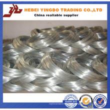 Fio de aço galvanizado mergulhado quente do ferro do calibre 500kg / Coil 16 fornecedores