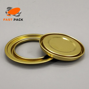 Lid/ring/bottom components for round tin can