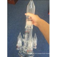 Enjoylife La forma más vendida de cohetes Gran tubo de vidrio de agua Pipa de fumar Perc Multi Percolator Pipa de fumar al por mayor