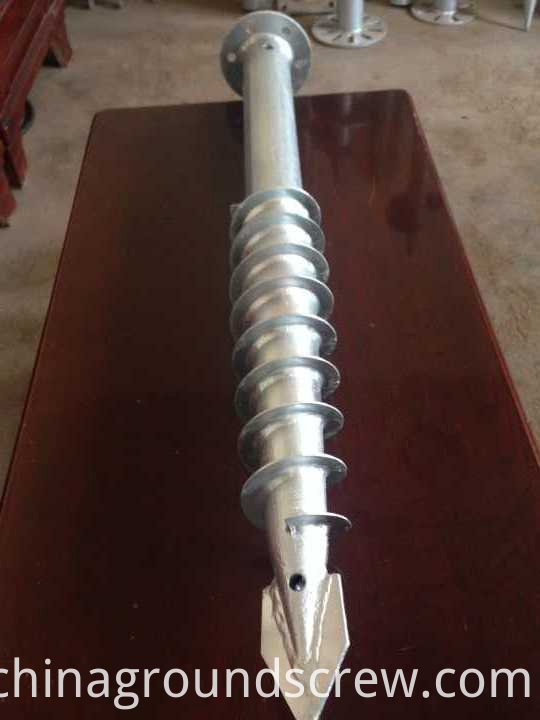 triangle flange ground screw