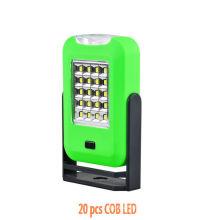 Alto lúmenes de luz 20 + 3 LED SMD Luz de trabajo Gancho de imán
