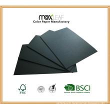 225GSM tamanho A4 papelão preto para embalagem