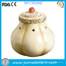 Original Ceramic Garlic Storage Jar Decoration