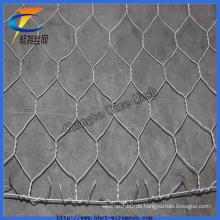 2 * 1 * 1best Qualität galvanisierte sechseckiges Gabion-Maschendraht für Fluss Constructio