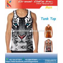 Fashion custom 3d printing sublimation gym tank top