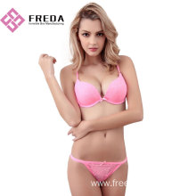 Low Cost for Satin Female Bra Set deep V lace bra and panty sets export to Poland Factories