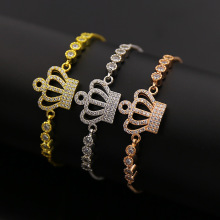 Micro Zicro Pave Crown Charms Design Gelang