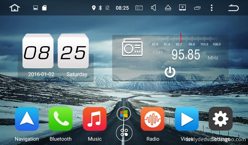 UI of android 6.0 car DVD for Hyundai SONATA 2015-2016