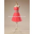 2017 свадебные тосты короткие вечерние платья арбузно-красный цвет кружева туту юбка халат де вечер вечернее платье