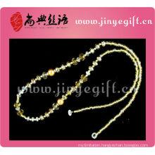 Fashion Jewelry Handmade Yellow Pearl Bead Sunglasses Chain