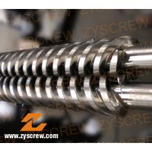PVC-Granulat-Parallel-Twin-Zylinder und Schnecken