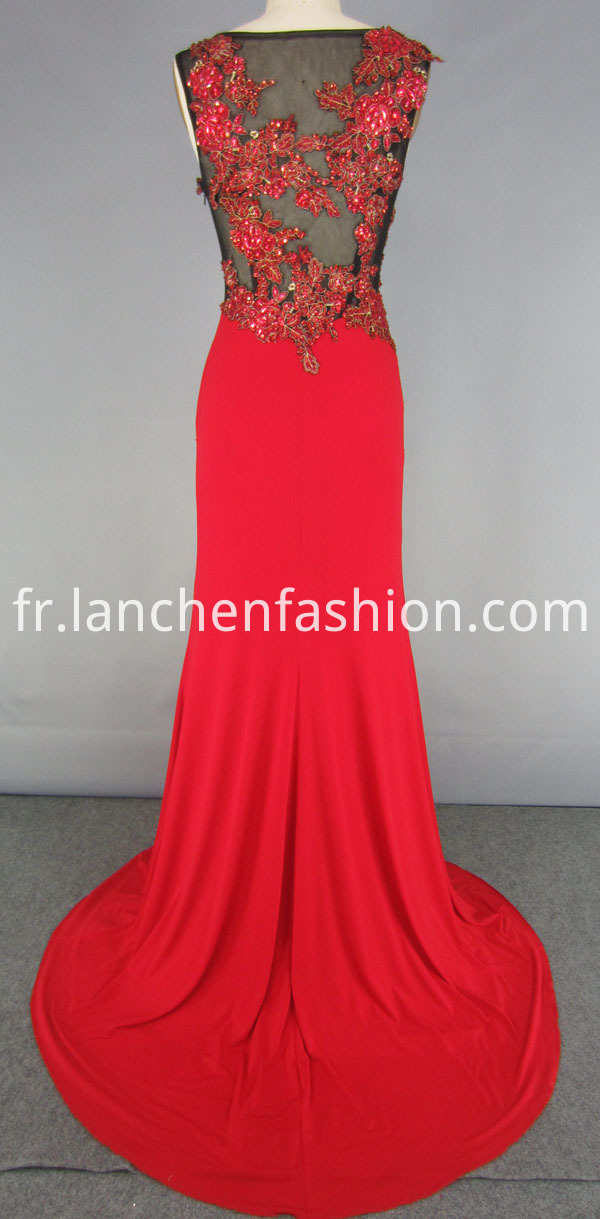 Long Red Evening Dress