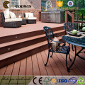 Modern 3D embossed surface and coffee wpc decking
