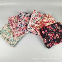 Nouveau style chaud doux et élastique mode écharpe musulmane hijab motif floral impression écharpe