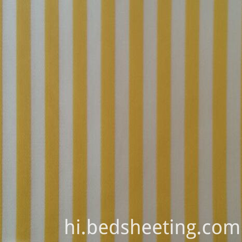 Yarn Dyed Cotton Stripe Fabric Yellow