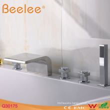5 Holes Deck Mounted Tub Faucet with Hand Shower