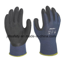 Blue Bamboo Fiber Work Glove with Latex Foam Coating (L3014)