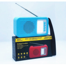 JDH-120 Support USB TF CARD FM RADIO Home Theaters System Blue Tooth Wireless Speaker  With Light