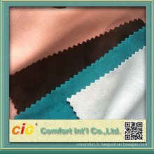 tissu de Suède micro poly 2015 pour l'habillement et de la jupe