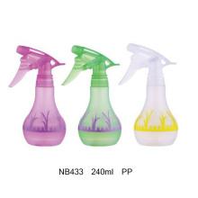 Botella plástica del rociador del disparador de los PP para limpiar 360ml (NB430)