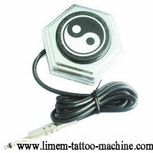 Interruptor de pie de pedal de pie acrílico Interruptor de pie para máquinas de tatuaje Pistolas de poder
