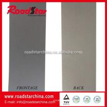 Material de los zapatos del PVC reflectante gris plata