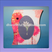 2016 hot selling ceramic frame with beautiful flower painting