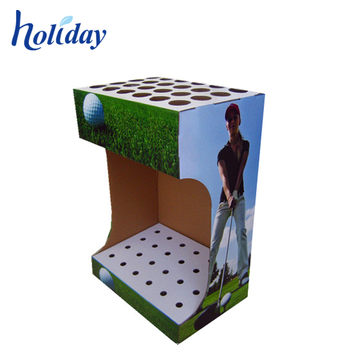 High Quality Cardboard Golf Club Display Stand,Golf Club Display Rack