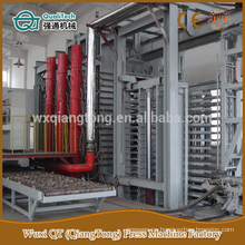 Alta presión a prueba de incendios plat caliente prensa de línea de producción / prensa de alta presión máquina / formica paneles de laminación de prensa caliente