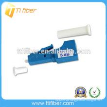 5dB LC UPC monomodo macho a hembra atenuador de fibra óptica