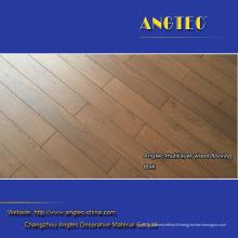 Plancher de bois d'ingénierie antique gratté par main de 15mm